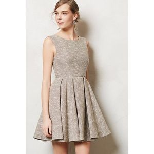 Anthropologie Paper Crown Shimmered Tweed Dress
